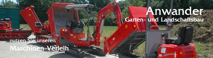 Garten und landschaftsbau maschinen  Anwander Garten- und Landschaftsbau | Maschinen - Verleih